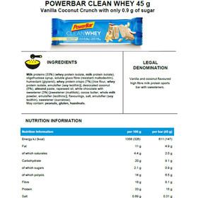 PowerBar Clean Whey Bar Box 18x45g Vanilla Coconut Crunch